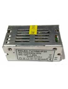 Driver 12V Driver 15W 12V 50-LED-TV-15W-IP20