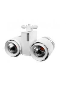 Focos Carril LED Focos Led Carril 2x30W 3K H228 57-H228-2X30W-WH3K