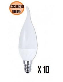 E14 10 unid Vela Fantasia E14 6W 40-LED-CAL30-6W-YE-KT10