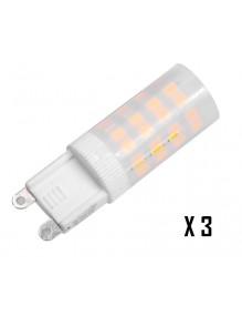 3 unid Bombilla LED G9 3W 3.000K