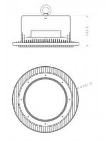 Campana Industrial Campana LED UFO MeanWell Pro 150W UFO-PM-150W-5K
