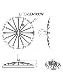 Campana Industrial Campana LED UFO SD 100W 6K UFO-SD-100W-6K