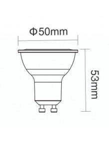 GU10 Bombilla LED 7W 6K GU10 3Y 3Y-GU10-7W-6K