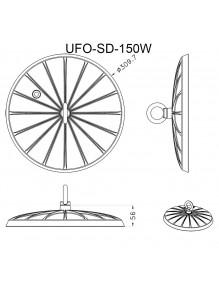 Campana Industrial Campana LED UFO SD 150W 6K UFO-SD-150W-6K
