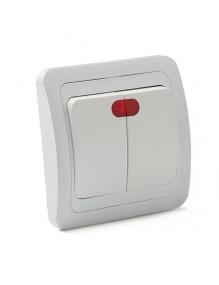 Material Eléctrico Interruptor doble Luz SR102 57-SR102-LUZ