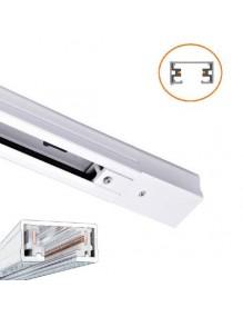 Accesorios carril Carril monofásico LED 1m Blanco 57-LK-HD-1M-2GUIA-WH