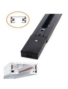 Carril monofásico LED 1m negro