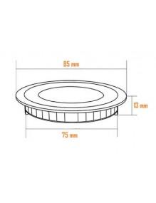 Luminarias Panel LED Slim 5W 4K Redondo Blanc 57-LED-DW085-R-WH4K