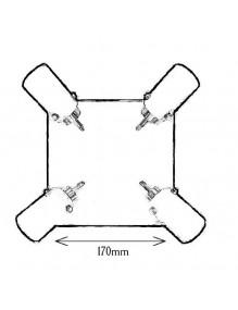 Decoración Plafón de techo G901-4R 66-G901-4R