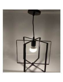Decoración Lámpara de techo Cuadrada Negra Vintage DD-02 58-DD-02