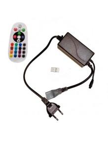 Tiras Led 220V Controlador tira LED 220V RGB 58-COMANDO-230V-RGB