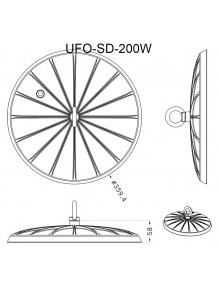 Campana Industrial Campana LED UFO PH 200W 6K UFO-PH08-200W-6K