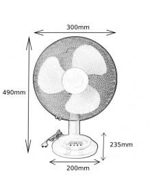 Inicio Ventilador Sobremesa Blanco 35W 3 velocidades VT-M30-A35
