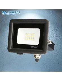 Proyector Exterior LED Foco LED 10W 6K Slim Lumileds Negro 57-FL4-10W-BK6K