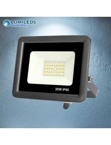 Proyector Exterior LED Foco LED 20W 6K Slim Lumileds Negro 57-FL4-20W-BK6K