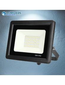 Proyector Exterior LED Foco LED 30W 6K Slim Lumileds Negro 57-FL4-30W-BK6K