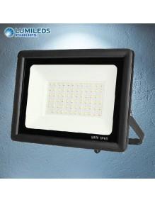 Proyector Exterior LED Foco LED 50W 6K Slim Lumileds Negro 57-FL4-50W-BK6K