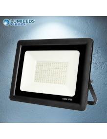 Proyector Exterior LED Foco LED 100W 6K Slim Lumileds Negro 57-FL4-100W-BK6K
