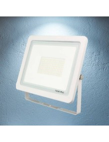 Proyector Exterior LED Foco LED 100W 6K Slim Blanco 57-FL4-100W-WH6K