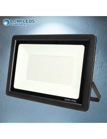 Proyector Exterior LED Foco LED 200W 6K Slim Lumileds Negro 57-FL4-200W-BK6K