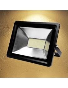 Proyector Exterior LED Foco LED 80W 3K Epistar Negro 57-FL4-80W-WW-SUPER