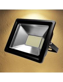 Proyector Exterior LED Foco LED 100W 3K Epistar Negro 57-FL4-100W-WW-SUPER