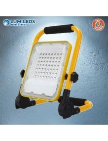 Proyector Exterior LED Foco LED 50W Recargable 6K Lumileds 57-FL9R-50W-GY6K
