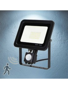 Proyector Exterior LED Foco LED Sensor 30W Slim 6K 57-FL4-30W-6K-SENS