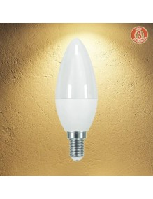 E14 Bombilla LED Vela 6W 3K 3Y 3Y-C37-6W-3K