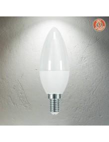 E14 Bombilla LED Vela 6W 4K 3Y 3Y-C37-6W-4K