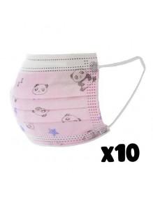 Covid19 Mascarillas higiénicas infantil dibujo panda BLS2199-P