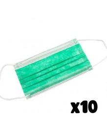 Covid19 Mascarillas higiénicas adulto verde ALS2099-V