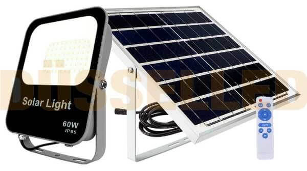 Proyector LED con panel solar