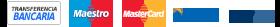 Métodos de pago, Visa, Master card, Paypal, transferencia bancaria