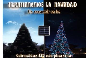 GUIRNALDAS LED SOLARES